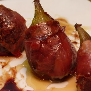 Blue Cheese-Stuffed Figs Wrapped in Prosciutto.