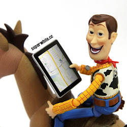 Adventures with bullseye, Woody lost no more thanks to GPS.