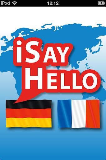 玩免費旅遊APP|下載iSayHello 德语 - 法语 app不用錢|硬是要APP