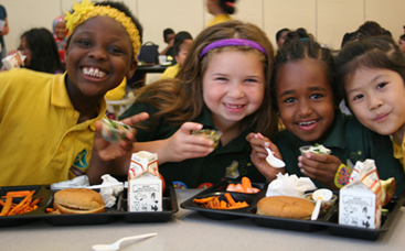 Students from St. Paul Public Schools enjoy a Farm to School recipe taste test!