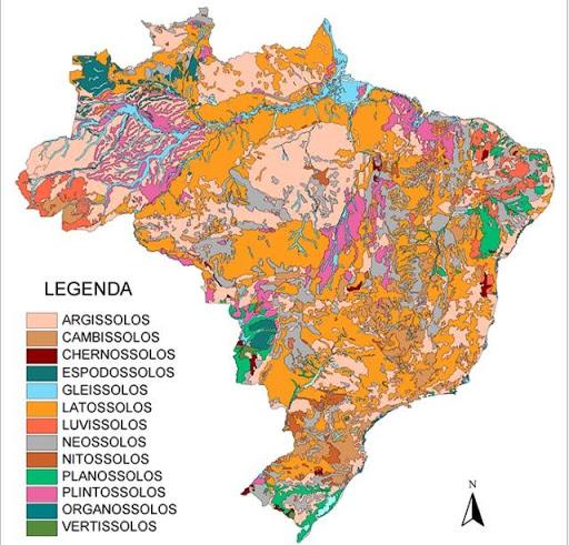 mapa solo brasileiro