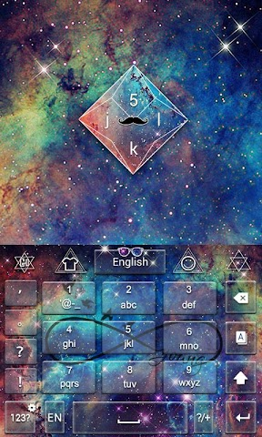 android Shining Star GO Keyboard Theme Screenshot 2