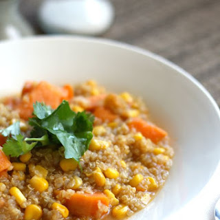 Corn Quinoa and Sweet Potato Chowder