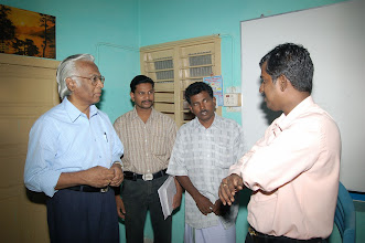 Photo: Mr.Arul(right) with the GOODWILL project staff