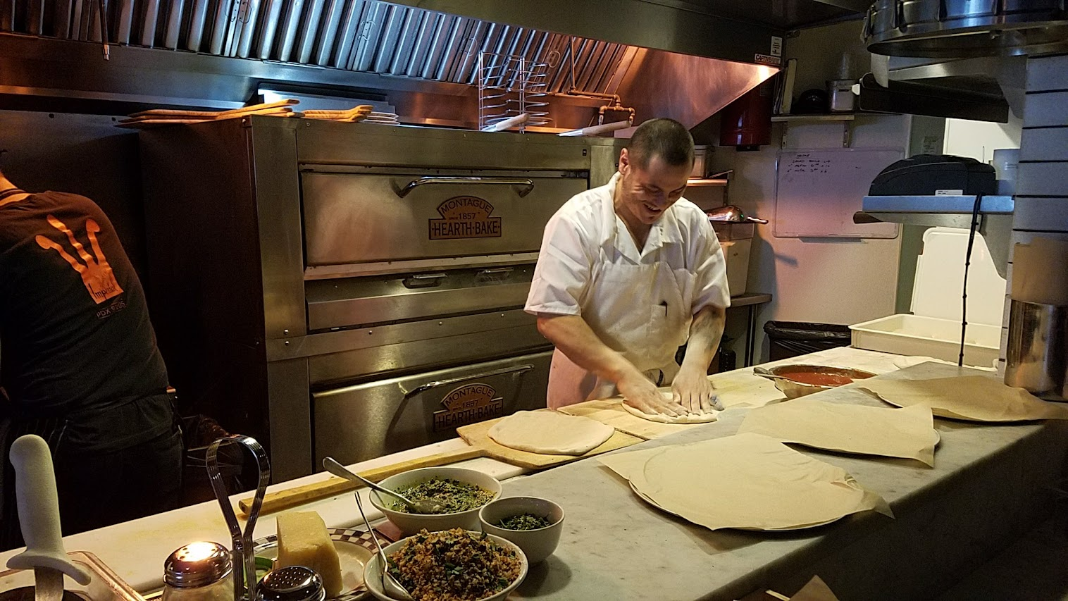 Inside Crown PDX in Portland, helmed by third generation pizzaiolo Vinny Manna.