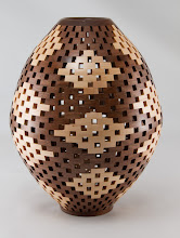 "Photo: Bob Grudberg 8"" x 11"" open segmented vessel [walnut, maple]"