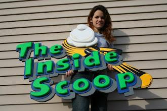 Photo: The Inside Scoop Santa Ana CaliforniaCustom Carved Wood Sign by Melissa Jones www.NiceCarvings.com