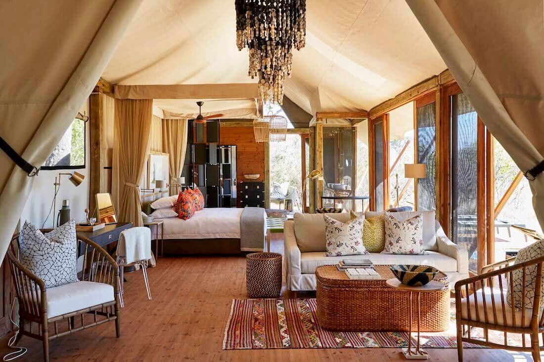 Luxury lodge in the Okavango Delta