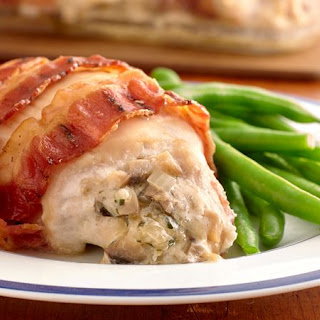 Cheese-Stuffed Bacon-Wrapped Chicken Breasts.