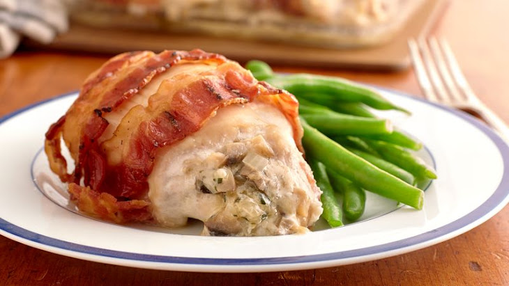 Cheese-Stuffed Bacon-Wrapped Chicken Breasts Recipe