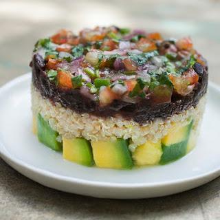 Avocado and Quinoa Veggie Tartare