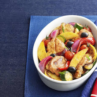 One Dish Roasted Chicken and Vegetables.