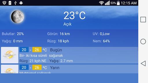 Istanbul Hava Durumu screenshot 2