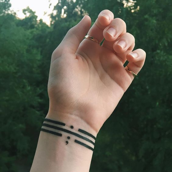 Bracelet Semi Colon Tattoo