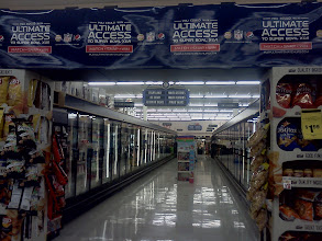 Photo: This Pepsi display was right behind me while waiting in line to checkout, they really are promoting Pepsi in Save Mart, which makes me like this store even more.