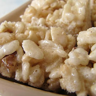 Rice Krispie Treats with Maple Syrup and Brown Sugar