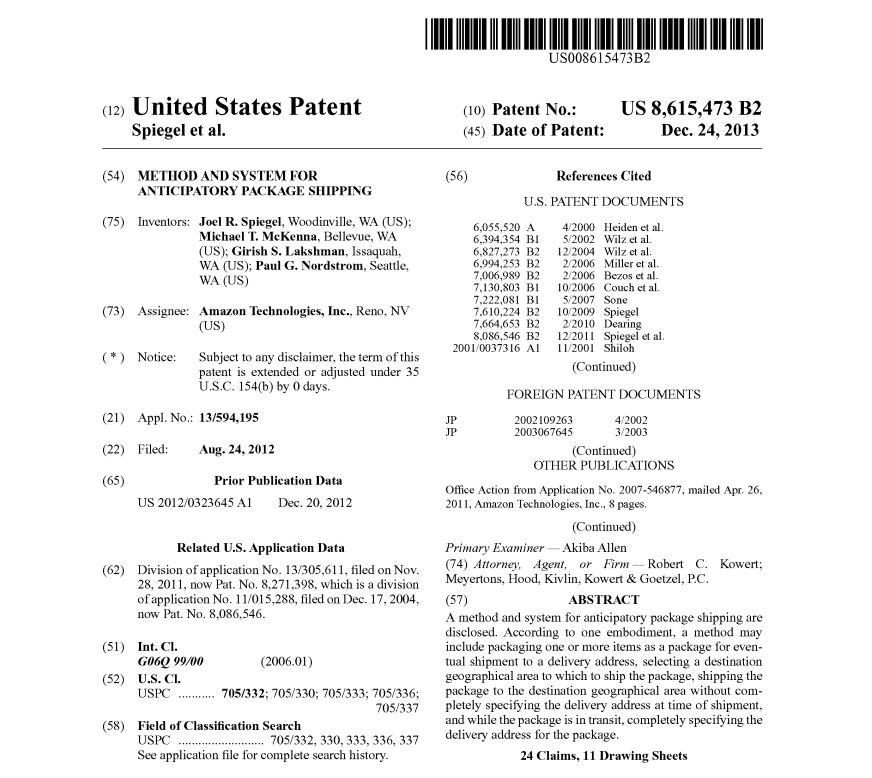 Amazon's new patent