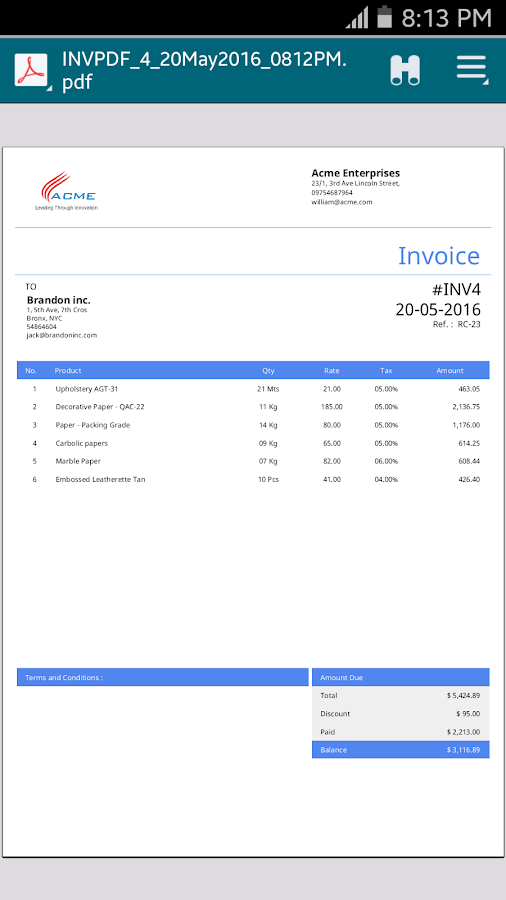 Simple Invoice Manager  Android Apps On Google Play