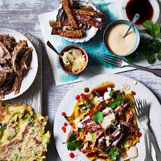 Pulled Pork with Okonomiyaki (Japanese Savoury Pancakes) Recipe