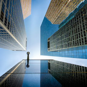 Big Brother by Dee Zunker - Buildings & Architecture Office Buildings & Hotels ( pwcarcreflections, houston, centerpoint, reflections, downtown )