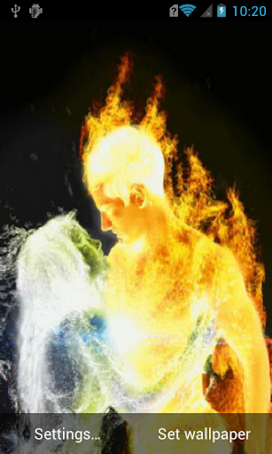 Love of fire and water Live WP