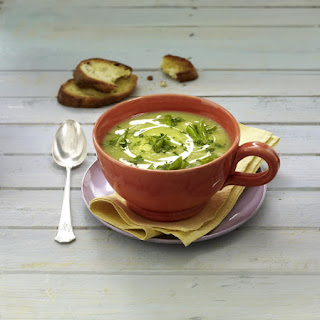 French Bean Soup with Toasted Baguette