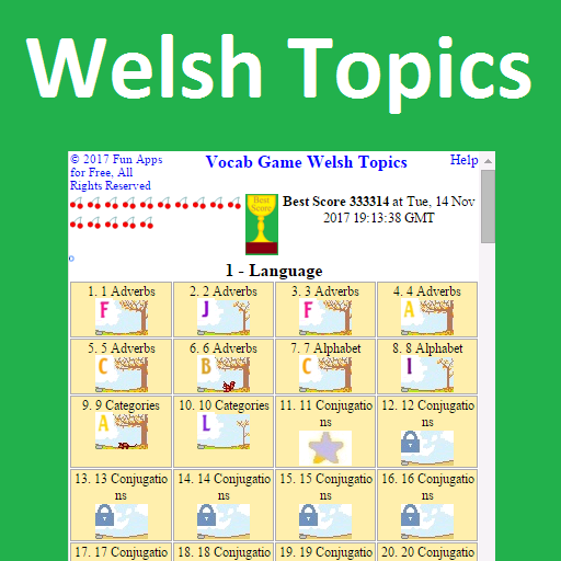Vocab Game Welsh Topics (game)