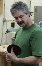 Photo: Karl Vilbig - walnut plate - first-ever turned piece