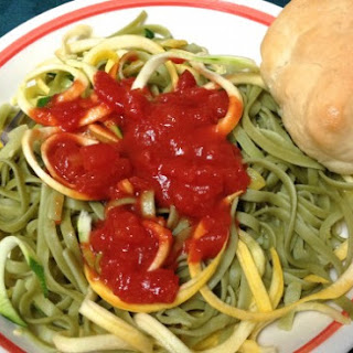 Spinach Fettuccine and Zoodles.