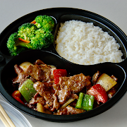 Black Pepper Beef with White Rice Combo
