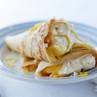 Lemon Meringue Crêpes With Ice Cream.