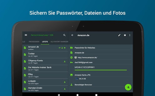 Keeper Passwort-Manager Screenshot