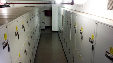 Photo: lockers for storage of luggage after checkout
