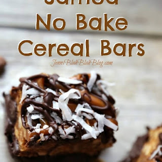 Samoa No Bake Cereal Bars