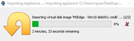 Virtual Hacking Lab - Importing Windows 10 VM in VirtualBox. Source: nudesystems.com