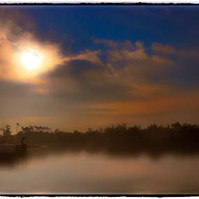 Morning Sunshine by Andi Irawan - Landscapes Sunsets & Sunrises ( waterscape, lakes, jakarta, sunrise, landscape )
