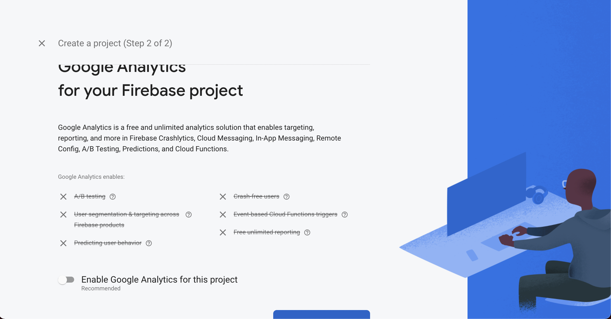 Link your project with Google Analytics