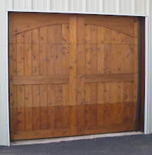 Photo: Demo Door. Cedar Overlay on a commercial door. Smooth side out with Arches
