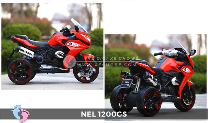 Moto điện 3 bánh cho bé NEL-1200GS 11