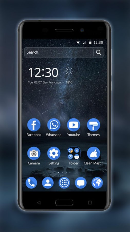 Starry Night Theme- screenshot