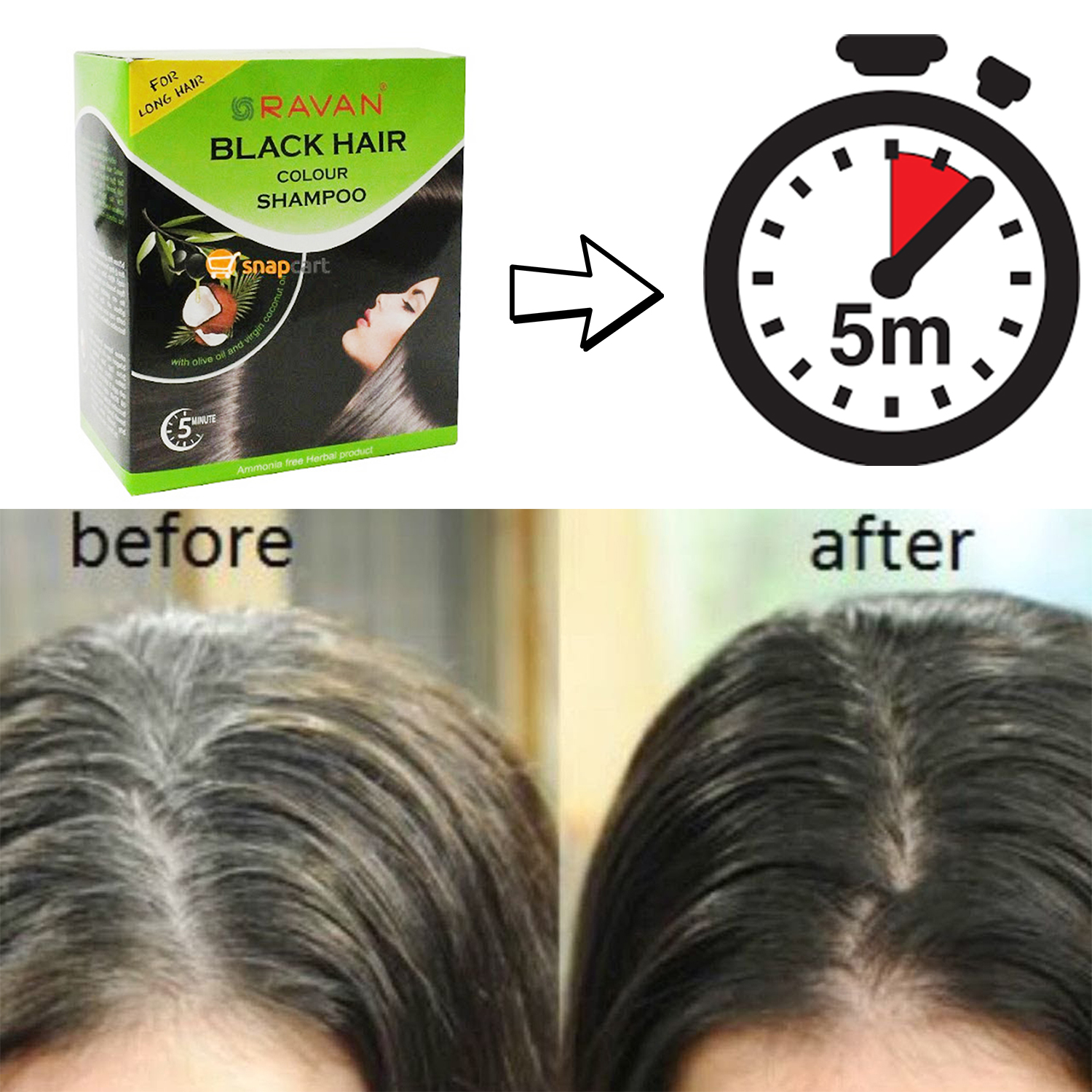 Organic Black Hair Color Shampoo 100 Natural Look Fashion Permanent Herbal Best Ebay