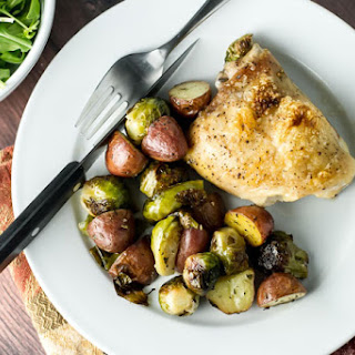 One Pan Roasted Chicken and Veggies.