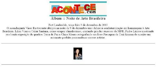 Photo: Review on website Acontece.com - 2003