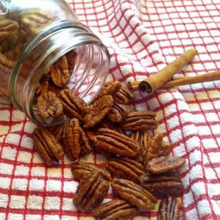 Toasted Pecans - Maple Cinnamon Pecan Snack - Vegan Paleo Gluten Free.