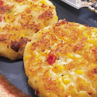 Cheesy Potato Corn Cakes