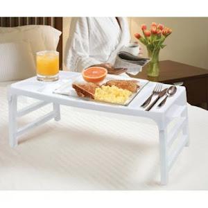 Masuta pliabila mic dejun, 47x27x22 cm, Alb
