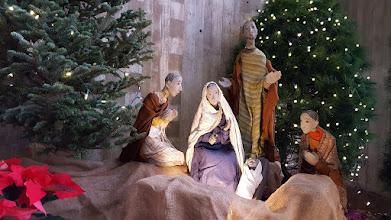 Photo: Nativity creche, abbey church, 26 Dec. 2018.