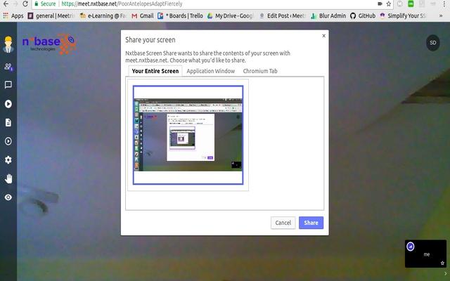 Nxtbase Screen Share