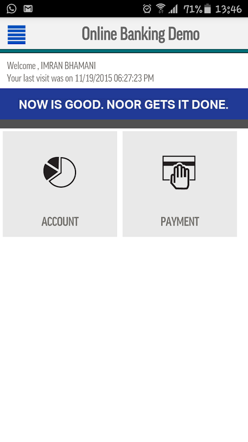Noor Bank Corporate Banking- screenshot