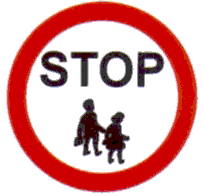 School wardens stop Regulatory Traffic Sign